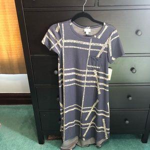 Lularoe Carly XXS jacquard fabric
